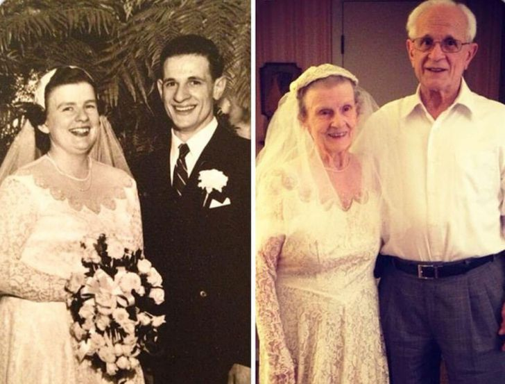 20 Couples Restored Our Faith In Love By Recreating Old Photos_1